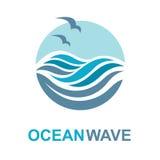 Diseño del logotipo del océano Fotos de archivo libres de regalías