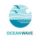 Diseño del logotipo del océano Imágenes de archivo libres de regalías