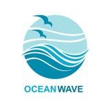 Diseño del logotipo del océano Imagen de archivo