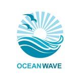 Diseño del logotipo del océano Imagenes de archivo