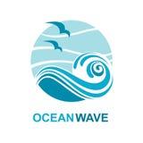 Diseño del logotipo del océano Foto de archivo libre de regalías