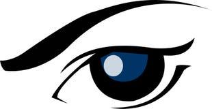 Diseño del logotipo del ojo - vector de los gráficos Fotos de archivo libres de regalías