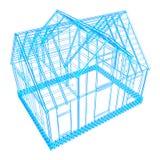 diseño del marco de la casa Imágenes de archivo libres de regalías