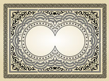 Diseño del marco de la vendimia Fotografía de archivo