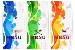 Diseño del menú de la barra Fotos de archivo libres de regalías