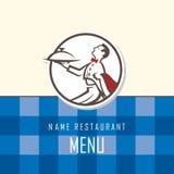 Diseño del menú del camarero Imagen de archivo