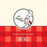 Diseño del menú del cocinero Foto de archivo libre de regalías