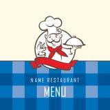 Diseño del menú del cocinero Fotos de archivo libres de regalías