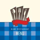 Diseño del menú del restaurante Fotos de archivo