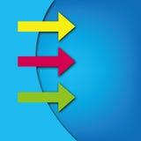 Diseño del modelo de la flecha Fotografía de archivo libre de regalías