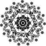 Diseño del negro del círculo con las mariposas Foto de archivo libre de regalías