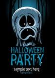 Diseño del partido de Halloween con el fantasma Foto de archivo