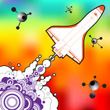 Diseño del vector de lanzadera Imagen de archivo libre de regalías