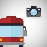 Diseño del viaje Icono del viaje Ejemplo plano Fotos de archivo libres de regalías