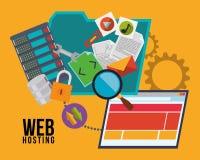 Diseño del web hosting Fotos de archivo libres de regalías