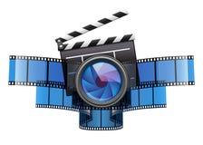Diseño en línea del icono del cine del cine Foto de archivo libre de regalías