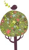 Diseño encantador del árbol Fotografía de archivo libre de regalías