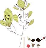 Diseño encantador del árbol Fotografía de archivo