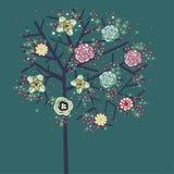 Diseño encantador del árbol Foto de archivo libre de regalías