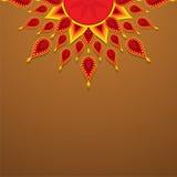 Diseño feliz del saludo del diwali Imágenes de archivo libres de regalías