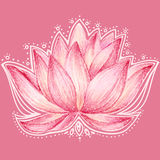 Diseño floral de Lotus Fotografía de archivo