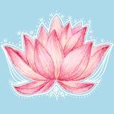 Diseño floral de Lotus Imágenes de archivo libres de regalías