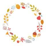 Diseño floral del otoño Fotografía de archivo libre de regalías
