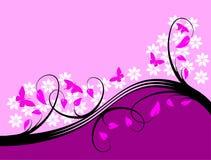 Diseño floral púrpura del fondo Foto de archivo libre de regalías
