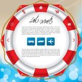Diseño fresco de la plantilla del Web site del verano Fotos de archivo libres de regalías
