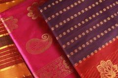 Diseño indio de la sari. Foto de archivo libre de regalías