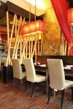Diseño interior del restaurante Foto de archivo libre de regalías