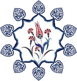 Diseño limpio del otomano tradicional Imagen de archivo