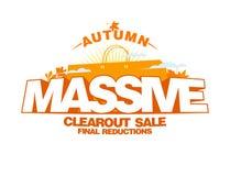 Diseño masivo de la venta del clearout del otoño Foto de archivo libre de regalías