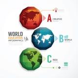 Diseño moderno colorido geométrico del mundo. Fotografía de archivo libre de regalías