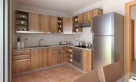 Diseño moderno de la cocina Fotografía de archivo libre de regalías