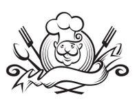 Diseño monocromático del cocinero Fotografía de archivo libre de regalías