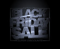 Diseño negro de la venta de viernes, descuentos estupendos, bandera de la liquidación del día de fiesta de la moda Imagenes de archivo