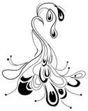 Diseño ornamental del pavo real Fotografía de archivo