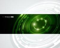 Diseño retro del vector del círculo de la tecnología Imágenes de archivo libres de regalías