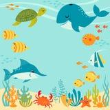 Diseño subacuático lindo Foto de archivo