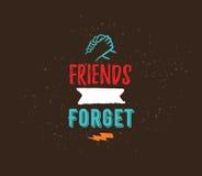 Diseño tipográfico de la amistad del vector feliz del día Fotos de archivo libres de regalías