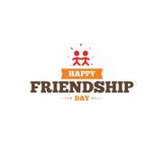 Diseño tipográfico de la amistad del vector feliz del día Imagen de archivo