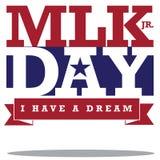 Diseño tipográfico de Martin Luther King Day Foto de archivo libre de regalías