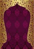 Diseño tradicional del oro del otomano Imágenes de archivo libres de regalías