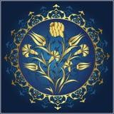Diseño tradicional del oro del otomano Fotografía de archivo libre de regalías