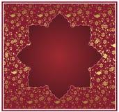 Diseño tradicional del oro del otomano Imagenes de archivo