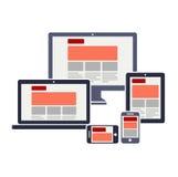 Diseño web responsivo Imágenes de archivo libres de regalías