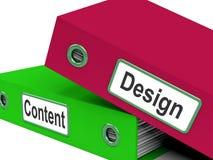 Diseño y Content Folders Show Company Foto de archivo