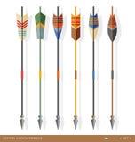 Diseños contemporáneos de la flecha del tiro al arco Fotografía de archivo