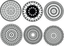 Diseños de la mandala de la alheña Foto de archivo libre de regalías